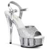 DELIGHT-609-5G Silver Glitter